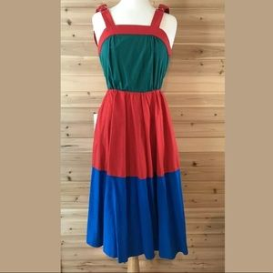 Vintage Malcom Starr Colorblock Sun Dress